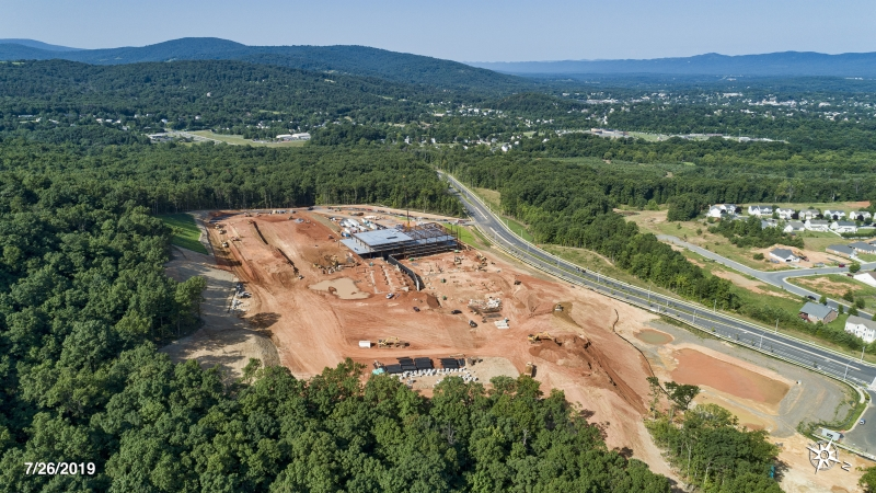 New construction site aerial image